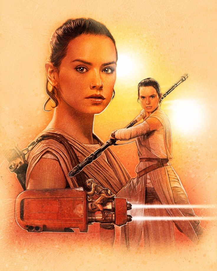 Star Wars: Episode VII - The Force Awakens - Rey by Paul Shipper