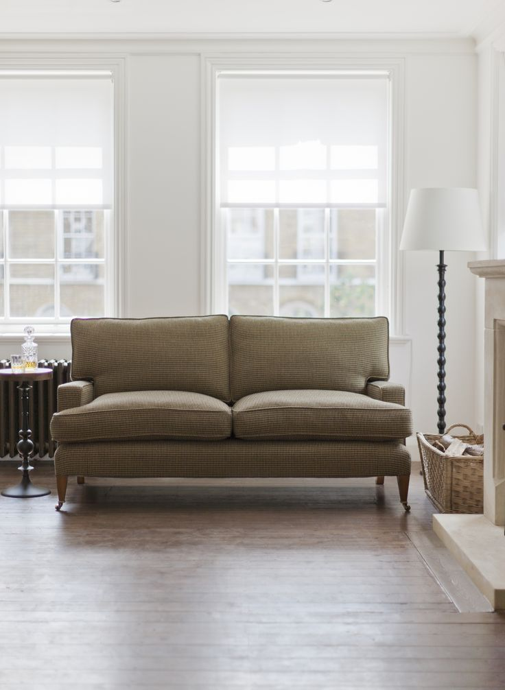 Beaumont & Fletcher's Byron sofa is practical, very comfortable and covered in our own pure lambswool - Argyll check. Perfect for banishing the autumn blues.