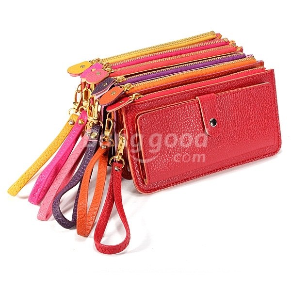 Fashion Candy 6 Color Leather Coin Purse Card Clutch Zipped Bag Handbag US$4.97 Gifts