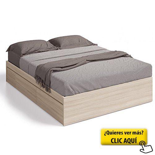Cama de matrimonio (solo estructura) con cuatro... #cama