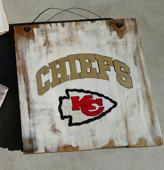 Kansas City Chiefs hand painted sign on reclaimed wood - 11 Best Images About Ang On Pinterest Kansas City Chiefs, Wooden