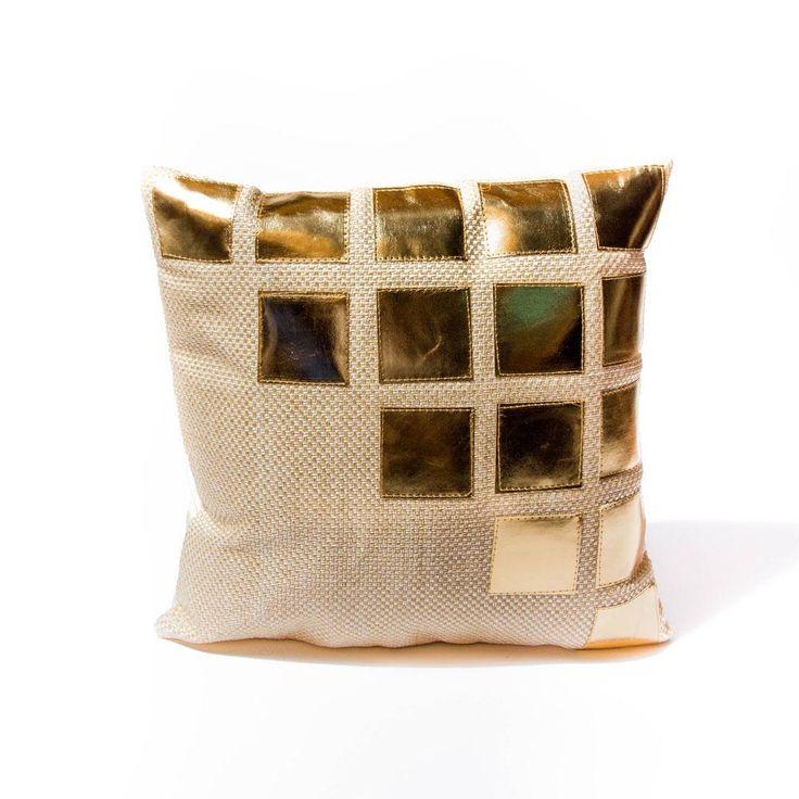 Beige Box of Gold Pillow