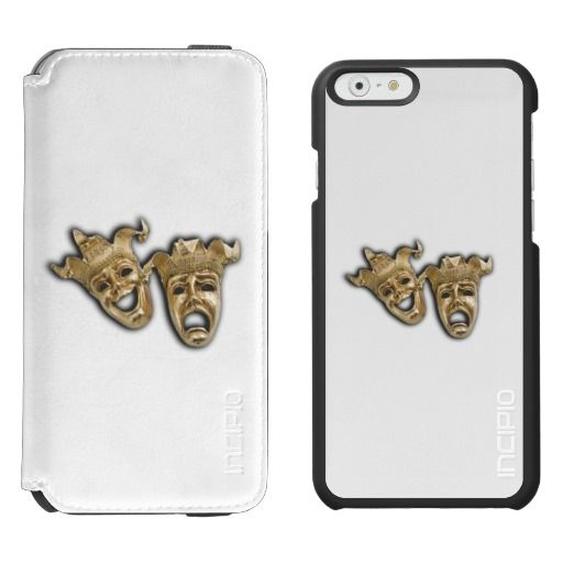 Comedy and Tragedy Theater Masks iPhone 6/6s Wallet Case