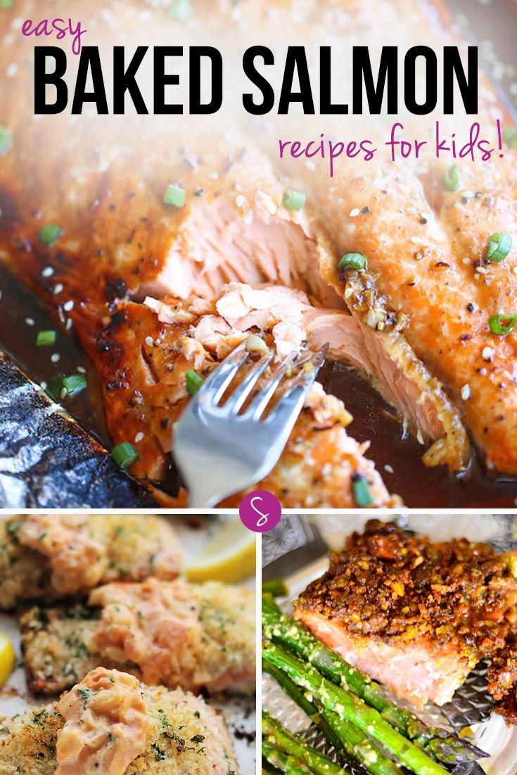 Easy Baked Salmon Recipes for Kids - This collection of baked salmon recipes taste so good the whole family will love them! Great for dinner parties too!