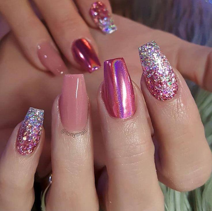 Pretty Chrome Nails