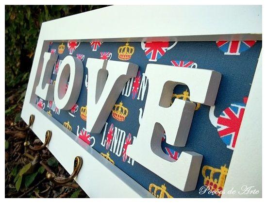Lojinha Poções de Arte: Porta Chaves - LOVE.