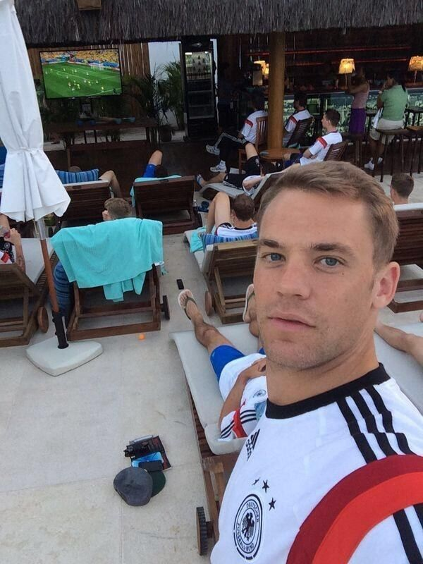 They have his incredible babe-like selfie-taking face. | 54 Reasons The German World Cup Team Might Actually Be The Hottest World Cup Team
