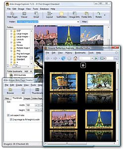 Rename a batch of photos at once- Arles Image Web Page Creator interface