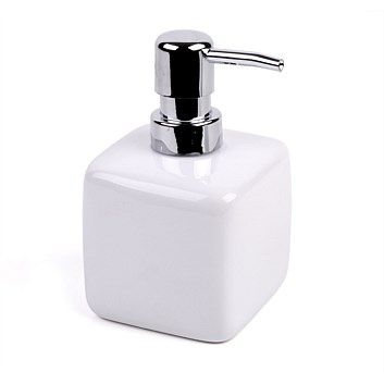 bathroom accessories briscoes chicago soap dispenser white