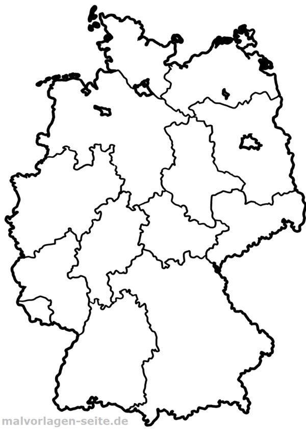 Landkarte Deutschland - Kostenlose Ausmalbilder ...