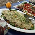 Glasnudelsalat mit Orangenfilets Avokados Sweet chili