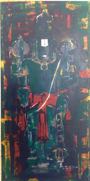 "Saatchi Art Artist sreenivasula reddy; Painting, ""Lord Venkateswara ( Vishnu)"" #art"