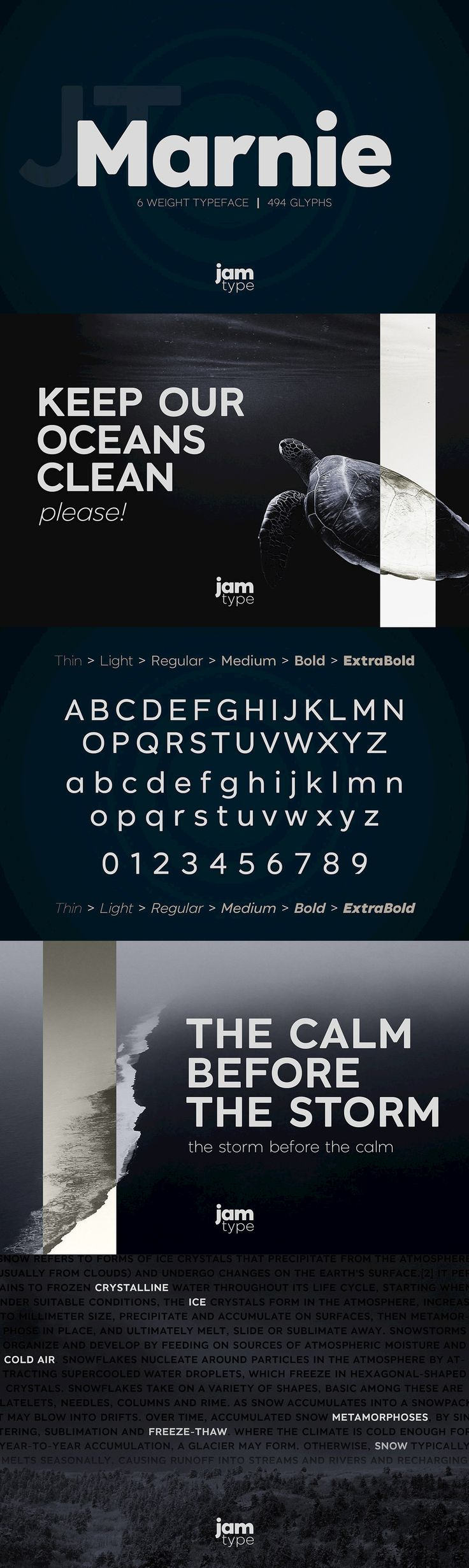 JT Marnie - The design is influenced by the geometric style sans serif faces which were popular during the ...