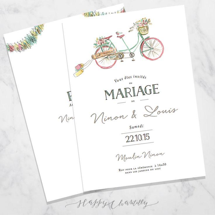 faire-part-mariage-velo-tandem-aquarelle