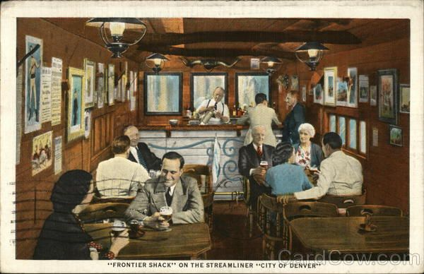 Unique Frontier Shack on the Streamliner City of Denver Linen Train Interiors Pinterest Denver City and Union pacific railroad