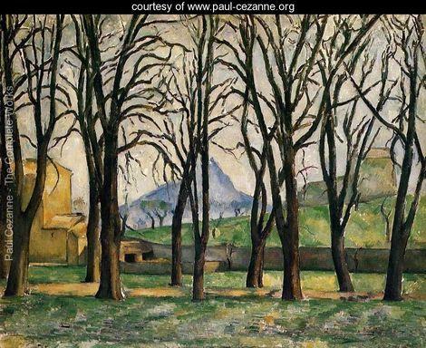 Chestnut Trees At The Jas De Bouffan - Paul Cezanne - www.paul-cezanne.org