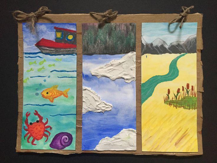 Grade 2 Canadian Communities Triptych