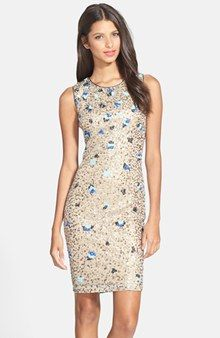 Hailey by Adrianna Papell Sequin Body-Con Dress