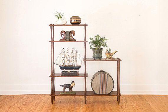 Mid Century Bookshelf  Room Divider by HomesteadSeattle on Etsy, $495.00