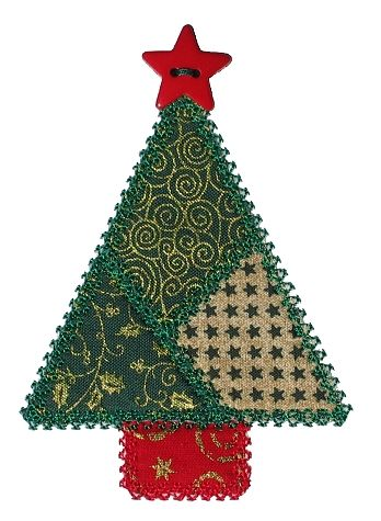 Christmas Tree Appliques Free | How to Applique