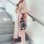 blush pink classy abaya style