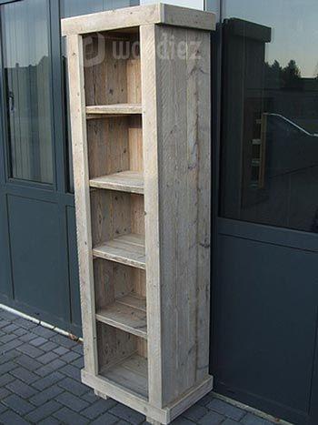 robuuste steigerhouten boekenkast op maat