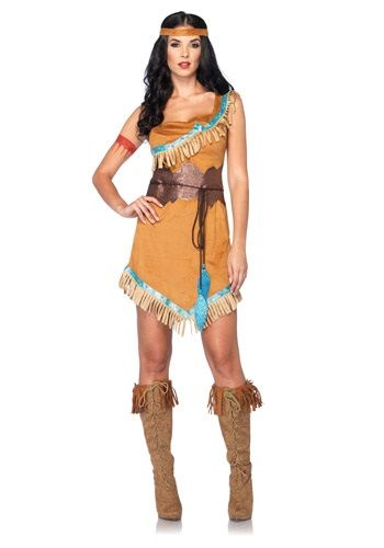 This Women's Disney Pocahontas Costume makes it easy to see why the Indian princess was such a catch. It's inspired by the classic Disney animated film.