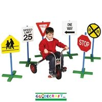 Traffic Signs for Kids. Add them to an obstacle course!  Take them to the park or turn your driveway into a neighborhood highway!  Kids practice sign recognition and safety!