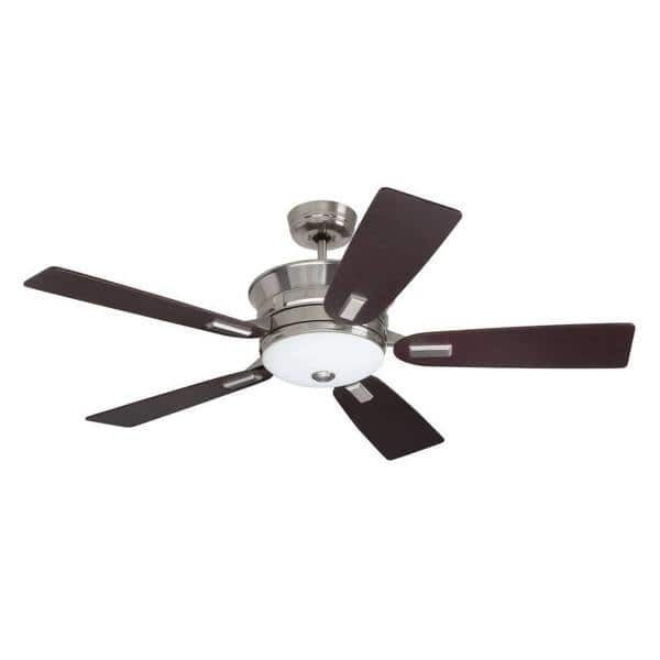 Superb Emerson Highgrove inch Brushed Steel Transitional Ceiling Fan