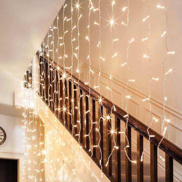 192er LED Lichtervorhang warmweiß 2m x 2m