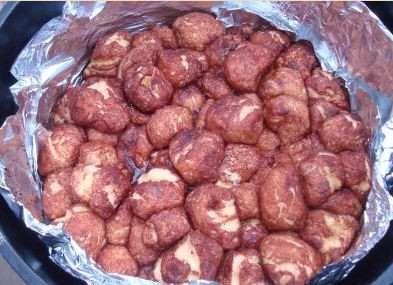 Campfire cinnamon sugar monkey bread