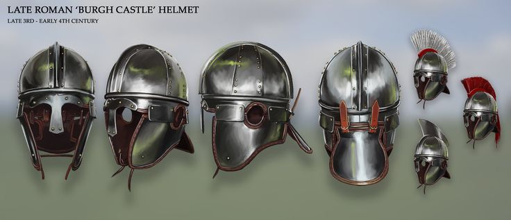 Late Roman 'Burgh Castle' Helmet by RobbieMcSweeney on DeviantArt