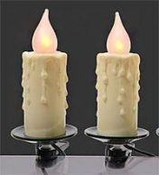 Электрогирлянда  СВЕЧИ белые с эффектом натурального пламени, 16 LED огней, 6+1,5 м, KAEMINGK