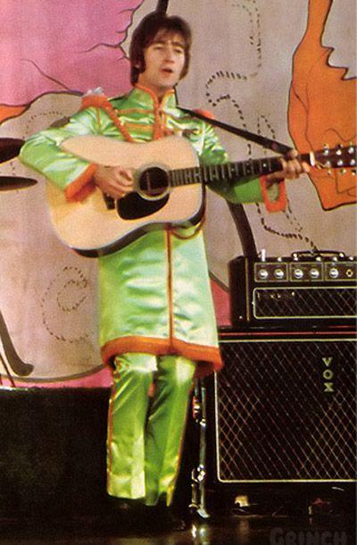 John Lennon 1965   John Lennon strumming his 1965 Martin D-28 Acoustic Guitar