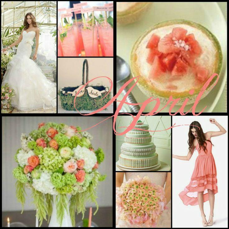 April Wedding Colors: 42 Best Color By Month! Images On Pinterest