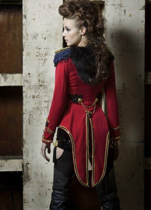 I want this jacket! How to Make a Ring Leader / Ringmaster or Lion Tamer Costume - Stitch Rippers - Tearing up Style - DIY Fashion