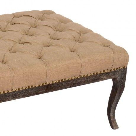 Linen ottoman from MOLLYSHOME.COM