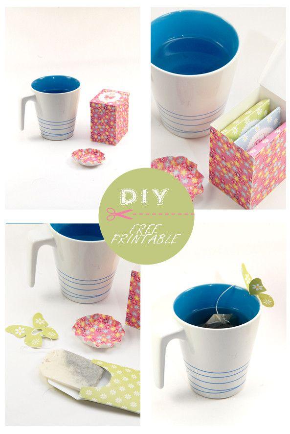 FREE printable TEA gift box (+ tea bag wraps)