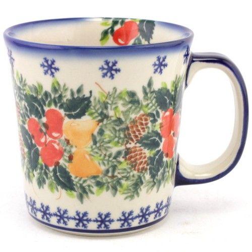$30.49 Christmas Mug 14 oz (0.4 L) #700 | Slavica Polish Pottery