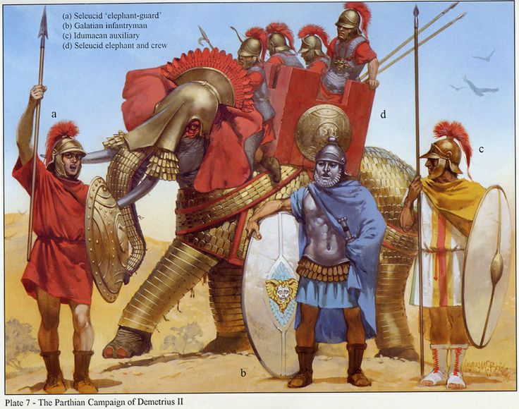 Angus McBride - Ejércitos seleúcidas: La campaña contra los partos de Demetrio II.
