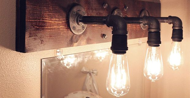 Industrial style: new life for light bulbs.
