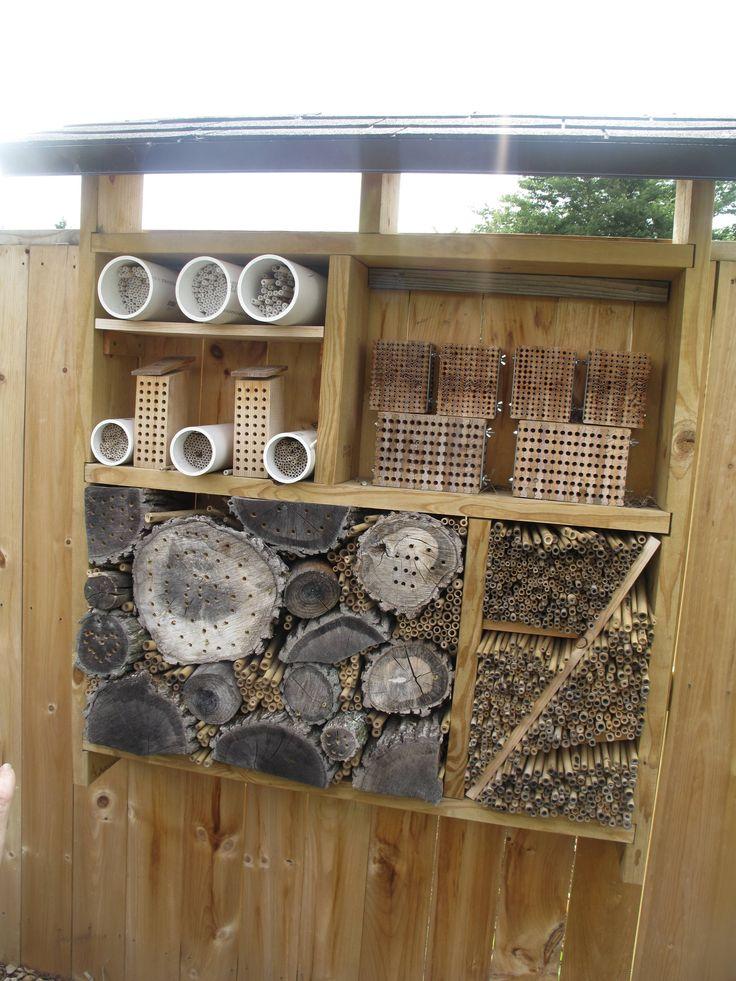 Mason bee homes at the MSU Horticultural Gardens
