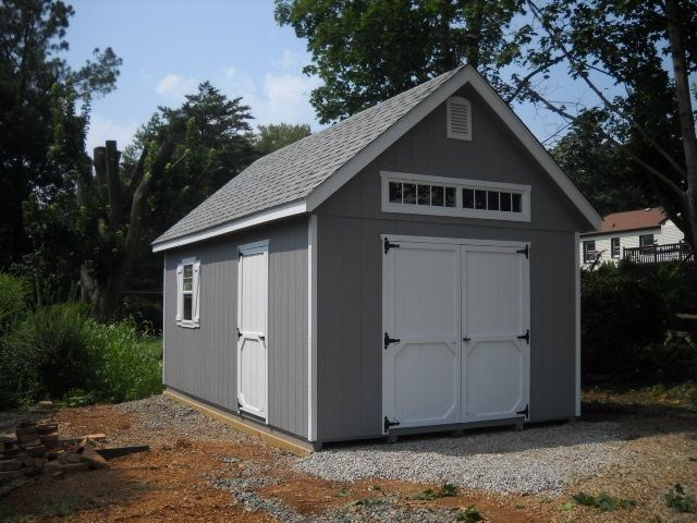 Amish Built 12x20 A Frame Storage Shed Garage With Upgraded Garden Elite Package Backyard Storage Sheds Outside Storage Shed Shed
