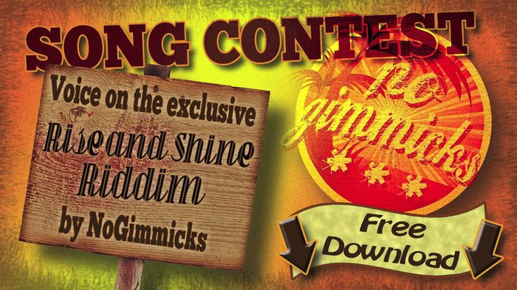 No Gimmicks Song Contest 2015 - http://www.yardhype.com/no-gimmicks-song-contest-2015/