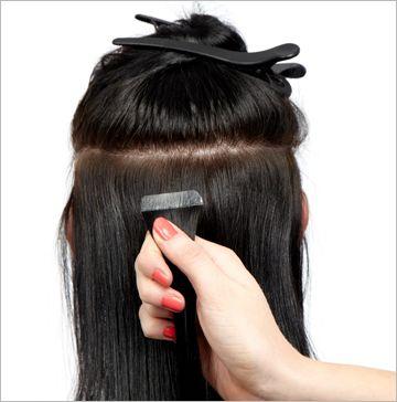 Tape baner - Hair extension butik i Aalborg - salg af hår og tilbehør! #tapeextensions