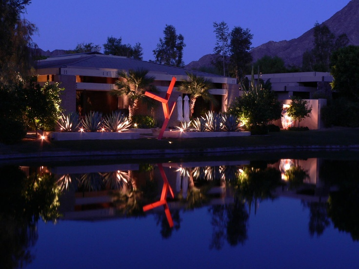 Indian wells palm desert palm springs landscape lighting by artistic illumination