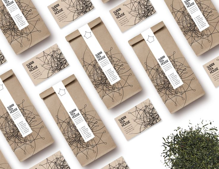 Visual Identity, packaging and stationery for Surrii Tea House