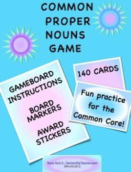 Kids love games! This common and proper nouns game is a fun way for your…