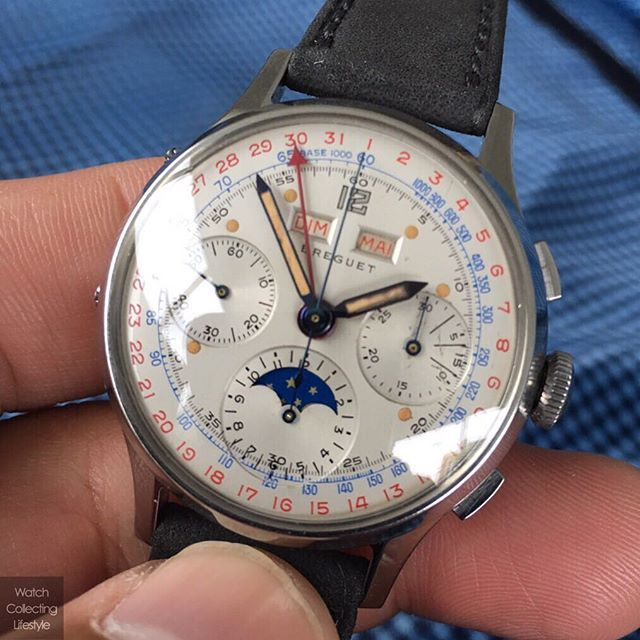 This @montresbreguet Triple Calendar Chronograph ref. 267 sold for roughly $290,000 USD at the @phillipswatches Geneva Watch Auction