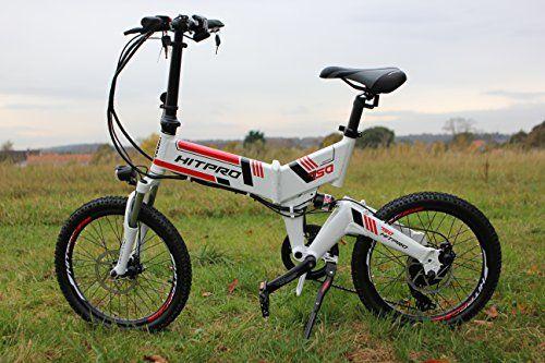 "New 20"" Folding Electric Bike 250 Watt Shimano 7 Speeds TX35 Gears 36V 10.4AH Samsung Lithium-Ion Battery Ebike Mechanical Disc Brakes Full Suspension (White)"